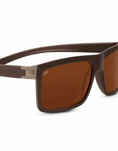 In sanded dark brown, the colour and design of these sunglasses add contemporary styling to your safari and outdoor wardrobe.