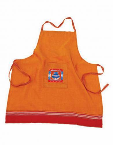 Kikoy Apron in Orange