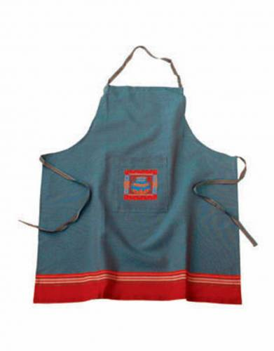 Kikoy Apron in Red Cyan