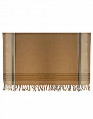 Kikoy Cotton Bed Throws (Large) in Tan & Stone