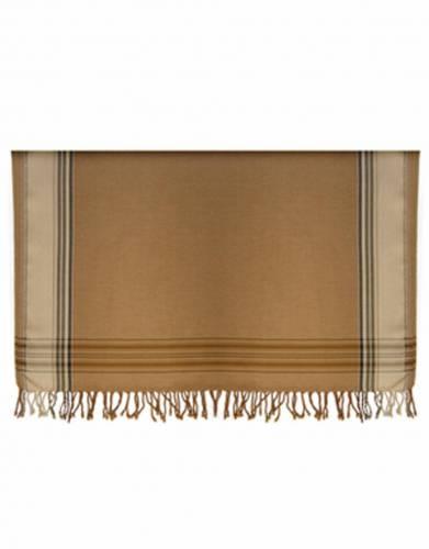 Kikoy Cotton Bed Throws (Large) in Tan & Stone