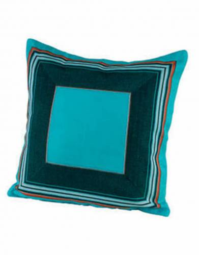 Kikoy Cushion Cover (40x40cm) in Blue atoll