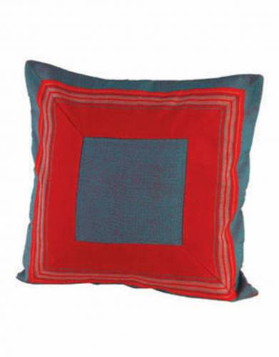 Kikoy Cushion Cover (40x40cm) in Red Cyan
