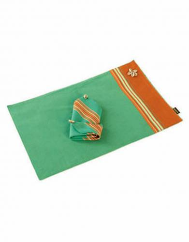 Kikoy Placemat with Cowrie Shells & Napkin