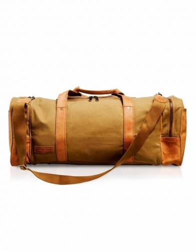 In ever-fashionable tan, this bag adds easy safari style to your travels and adventures.