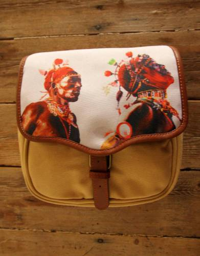 ART BY BRENT DODD. Mara&Meru™ Style-Your-Bag Maasai Flap for the Mara&Meru™ Selous Outdoor Bag.