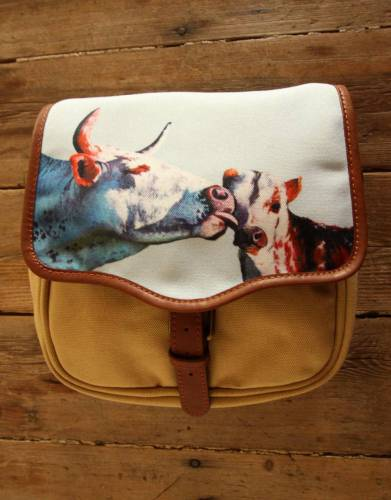 ART BY BRENT DODD. Mara&Meru™ Style-Your-Bag Nguni Cow&Calf Flap for the Mara&Meru™ Selous Outdoor Bag.