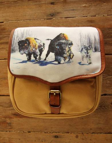 ART BY BRENT DODD. Mara&Meru™ Style-Your-Bag Wolves&Bison Flap for the Mara&Meru™ Selous Outdoor Bag.