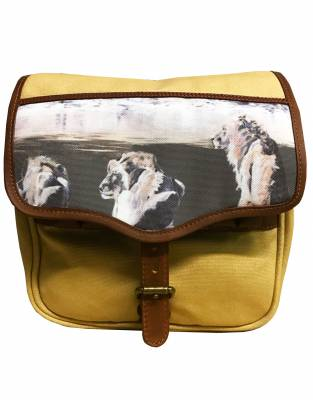 ART BY BRENT DODD. Mara&Meru™ Style-Your-Bag Lion Flap for the Mara&Meru™ Selous Satchel.