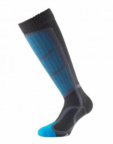 In Kingfisher, these unisex ski socks combine a range of features for comfort and warmth for winter sports and activities.