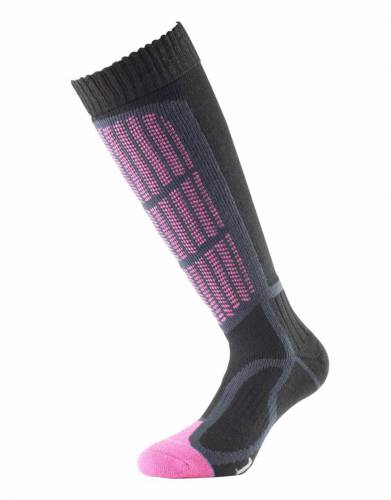 Available in Raspberry, these 1000 Mile Socks provide shin padding, arch support, and Achilles tendon support for ultimate comfort and many hours of enjoyment on the slopes.