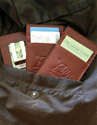 The Rufiji™ Safari MoneyClip comes in classic brown leather