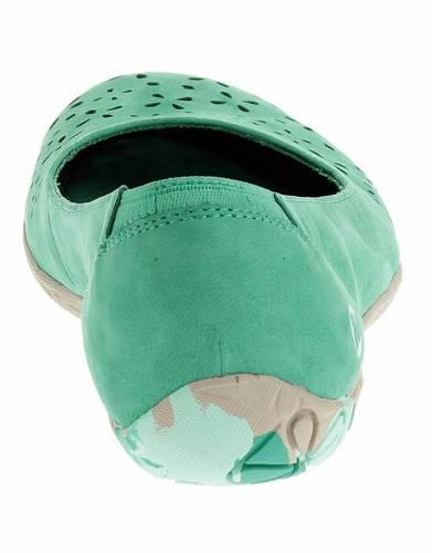 Merrell's Mimix Haze Ballet Pumps in Dynasty Green (back view).