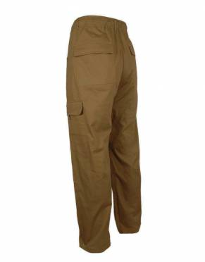 The rear view of the Men's Savute Safari Cargo Pants in Kalahari. The rich colour of these safari-friendly trousers are made for the African bush and look equally stylish for dinner and daily wear.