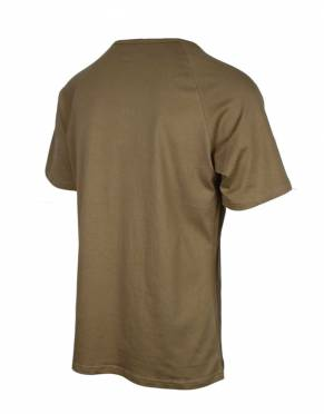 In a stylish, muted shade of brown, Safari Kudu is the plain cotton T-shirt men can wear for casual fashion in every setting.