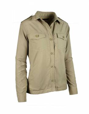 The classic khaki brown safari jacket has made its way into the fashion hall of fame. In Katavi Khaki, this safari jacket is completely suitable for your safari or as stylish citywear