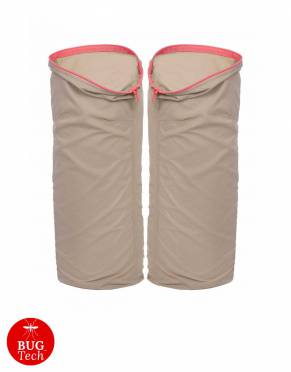 Anti-insect, water-resistant zip-on legs for women's zip-off trousers in Serengeti Stone trousers