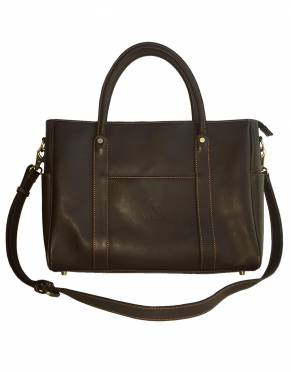 In deep, rich Sable Brown leather, the Mara&Meru Business Bag's colour is both elegant and timelessly stylish