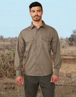 Safari Shirt in pebble