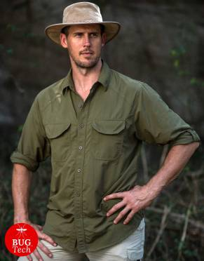 Safari Shirts - Men's Explorer BUGTech Anti-Insect Safari Shirt