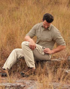 Safari Trousers & Shorts - Men's Rufiji™ SafariElite Zip-Off Cargo Safari Trousers