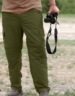 Safari Trousers & Shorts - Men's Explorer BUGTech Anti-insect Cargo Zip-Off Safari Trousers
