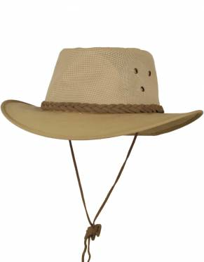 Safari Safari Hats - Men's Explorer Canvas Safari Hat (Adjustable)