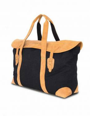 This bag is also available in a striking black and tan combination