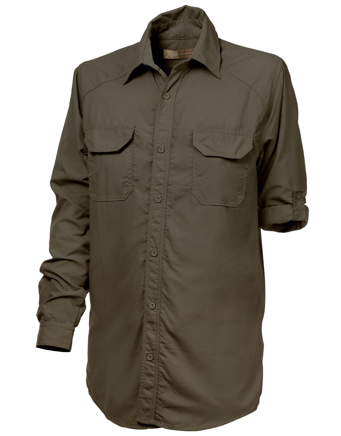 Safari Shirt Cognac Heels: Boys & Girls Rufiji MaraTech Long Sleeve Safari Shirt