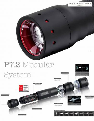 Of all the LED Lenser torches, the LED Lenser P7.2 really does use the modular system perfectly, especially when one considers that it includes the unique battery cartridge system.