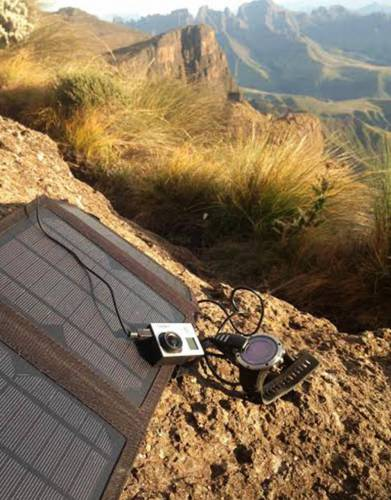 Our portable solar panel means that our testing team was  assured to keep the Suunto watch, GoPro and mobile phones fully charged. This is pretty important in case of an emergency or if snowed in.