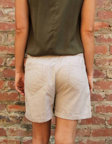 These shorts have two back pockets which add to their styling and functionality.