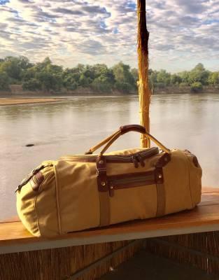 The Rufiji™ Safari Explorer overlooking the Luangwa River at Kaingo Camp. Photo by Ian Strange.