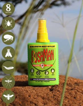Get the best of Bushman's safe, effective, long-lasting DEET formula with 15% off when you buy two bottles.