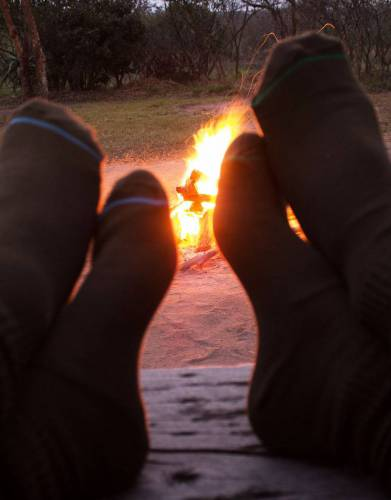 These socks are brilliant for walking but also comfortable and cosy for relaxing around the campfire.