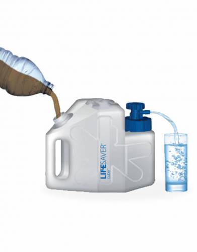 A robust and portable water filter capable of delivering 5,000 litres of clean water for family use
