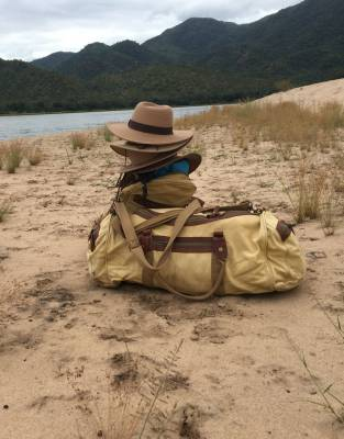 After design and sampling, our Rufiji™ and Mara&Meru™ hats were extensively tested on the Three Rivers Expedition which was the first to combine the Kafue, Zambezi, and Luangwa Rivers in one trip of rowing, supping, and using a small outboard.
