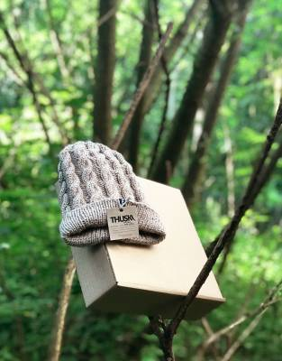 As part of our 'say no to plastic' philosophy and our commitment to environmentally sustainable business, our Thusk™ knitwear is packaged in a recyclable box. Small changes can make a big difference.