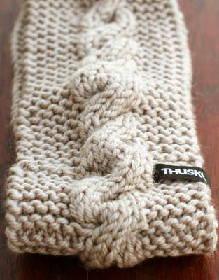 Made from 100% soft, warm, natural wool, the cable-knit pattern of the Thusk™ Knitted Headband has universal style appeal and is individually-made for premium quality.