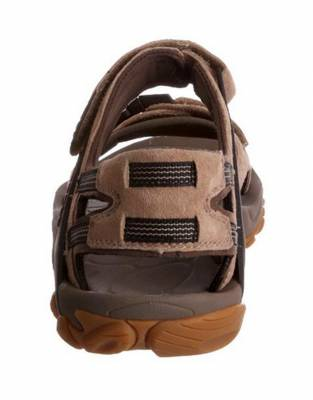 These Merrell Kahuna III Sandals were made to move. The air cushion in the heel absorbs shock for trail and off-road walking and the construction around the heel provides added stability