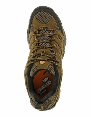 Combining an overlay of strong leather strapping with breathable mesh, the Merrell Moab Ventilators are breathable and strong