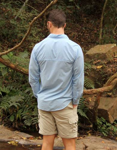 Available in eye-catching and always fashionable powder blue and based on our bestselling Rufiji™ SafariElite range, this is an exceptional multi-functional lifestyle shirt for the modern man.