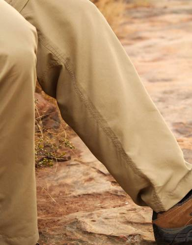 The new and improved double-stitched inner seam improves the drape and strength of the trousers.