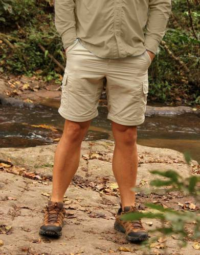 For ultimate packing convenience on safari, fishing trips, and outdoors, simply zip off the trouser legs for a stylish pair of shorts.