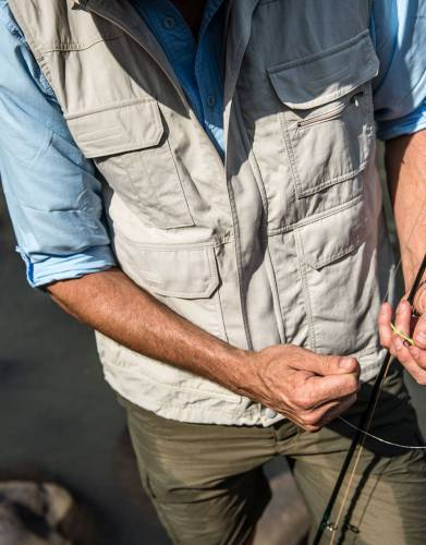 With plenty of pockets, this gilet is a handy addition to your fishing wardrobe.