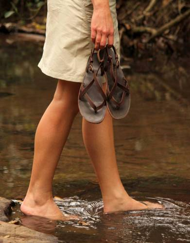 These leather thong sandals are strong and stylish - a striking addition to your summer and warm-weather wardrobe.