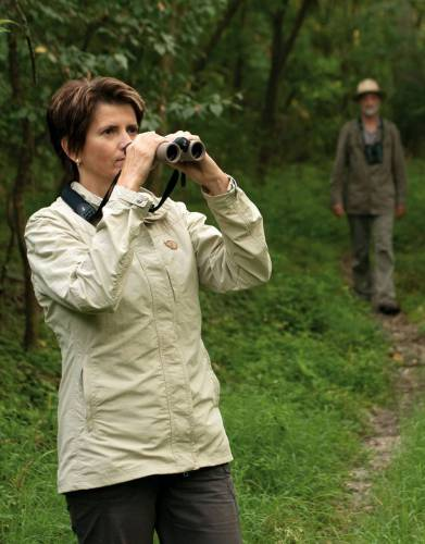At only 595g these binoculars are great for carrying on birding walks.
