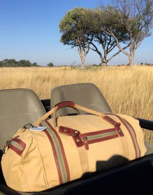 The Rufiji™ Safari Explorer on safari in the Okavango Delta. Photo by Ian Strange.