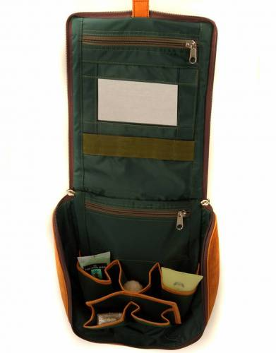 The interior of the Sandstorm Safari Washbag is fully-lined and waterproof; divided up into different compartments for easy access to your items for safari, travel, and outdoors.