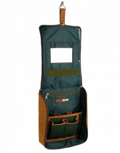 The zipped main compartment opens out and the hanging hook can be used to hang the bag from bathroom hooks and tree branches alike - a real convenience for the outdoorsman and woman on the go.